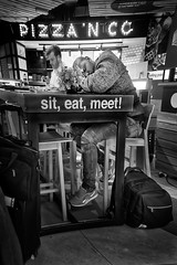 Sit, eat, meet...and sleep