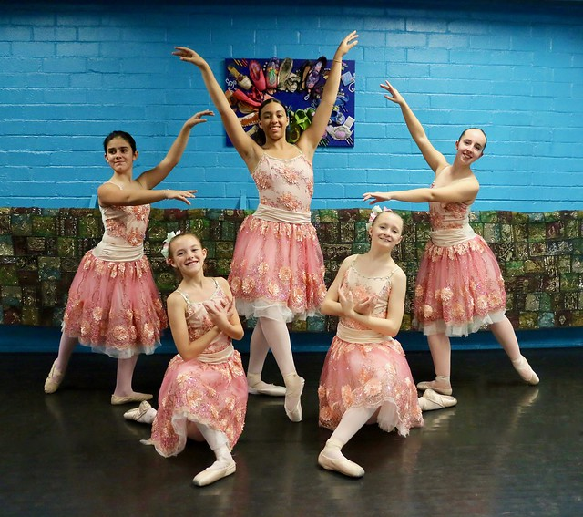 Five Young Ballerina Flowers In