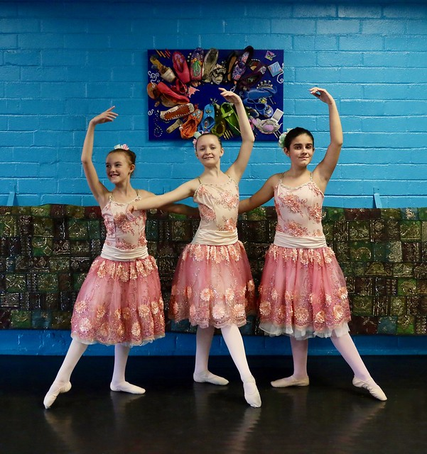 Three Young Ballerina Flowers In