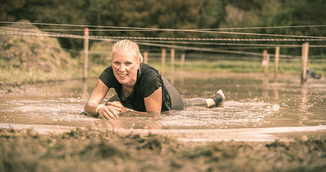 Mud run girl.