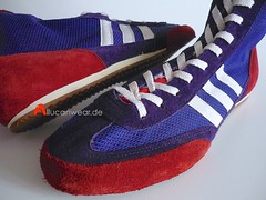 UNWORN VINTAGE ADIDAS BOX-CHAMP-SPEED BOXING BOOTS / HI TOPS