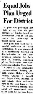 Community hearing told of construction job bias: 1970 | by Washington Area Spark