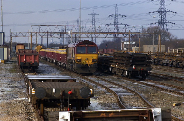 66034 is seen in Hoo Junction up yard ready to work an engineers train on 7-2-09. Copyright Ian Cuthbertson