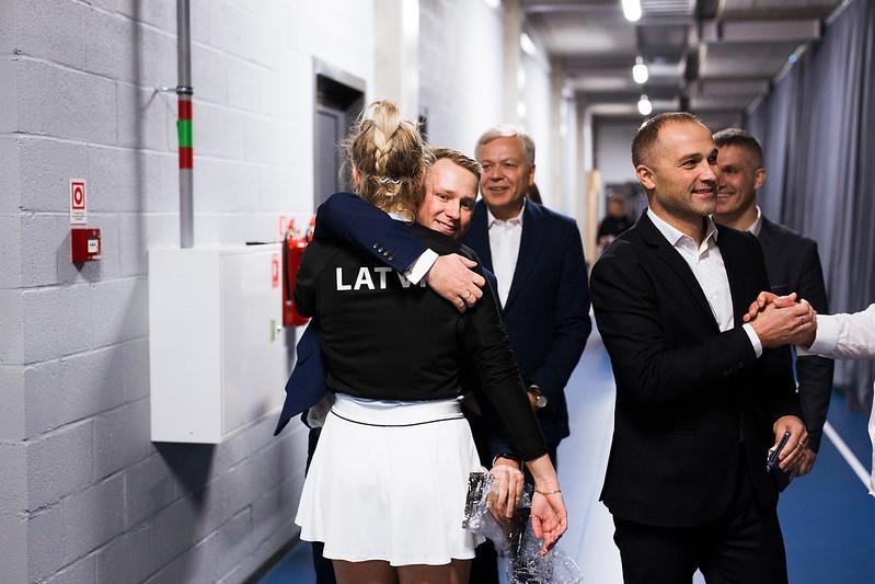 """Starptautiskās ITF pasaules tenisa tūres sacensības sievietēm """"Liepaja Open"""" 7.diena. Foto: Mārtiņš Vējš / 7th day of ITF Women's World Tennis Tour """"Liepaja Open"""". Photo: Mārtiņš Vējš"""