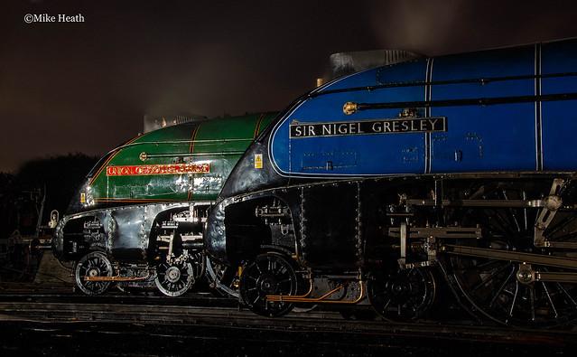 A4s at night - Buckley Wells - ELR - 19 October 2014 (3)