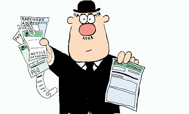 Cartoon pictures of Hector the Income Tax Self Assessment Collec
