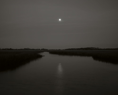 Moonrise over Middle Island