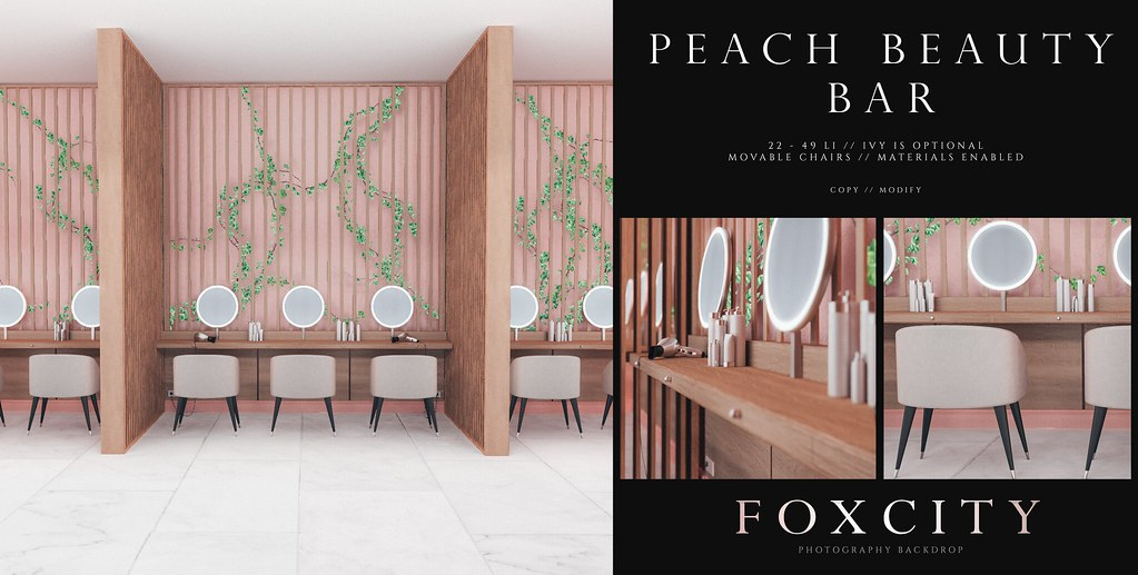 FOXCITY. Photo Booth – Peach Beauty Bar