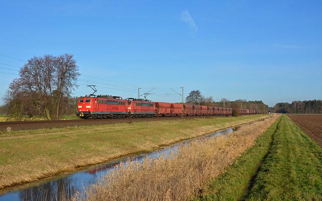 DB Cargo 151 116-1 + 151 098-1 - Adelheidsdorf