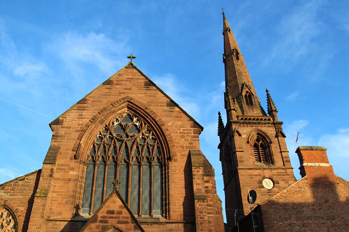 chester church sunset cheshire light old oldbuilding sky bluesky