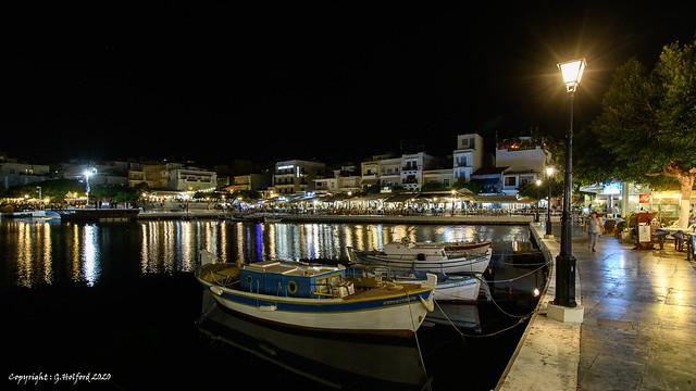 Aghios Nikolaos by Night