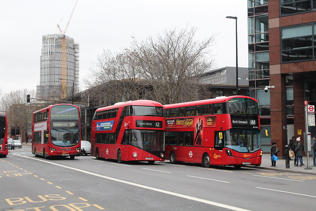 Wright Generations - London Central WVL282, LX59CYY, LT454, LTZ1454 & WHV188, LF67EXN - Route 12/171/188 | Elephant & Castle Station