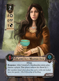 LOTR:LCG Alt Art Ally: Galadriel's Handmaiden by Nathália Gomes