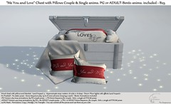 """.:Tm:.Creation """"Me You and Love"""" Chest with Pillows with anims. B25"""