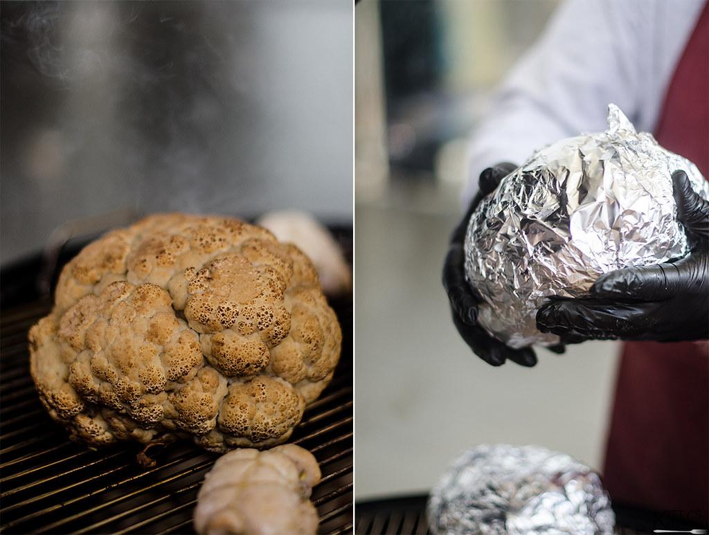 Session di Barbecue con gli SPQR Grilles cavolfiore