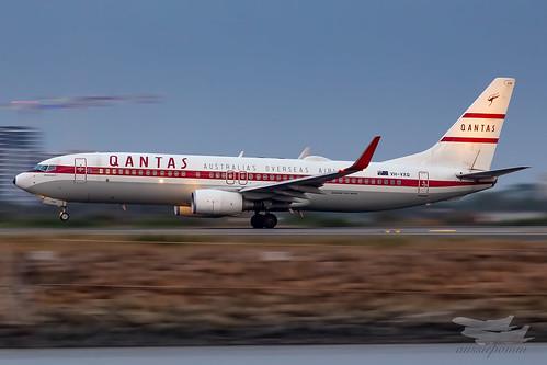 sydney newsouthwales australia qantas qf boeing b738 syd yssy sydneyairport