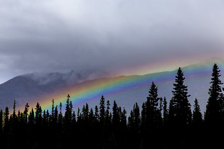 Rainbow over Lake Louise Valley