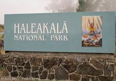 Haleakala NP HI - Entrance sign