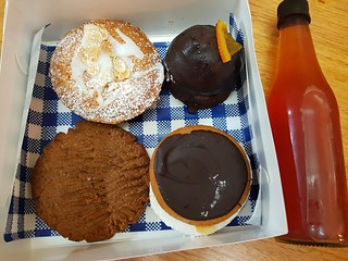 Strawberry Shortcake, Orange Curd Brownie Bomb, Wagon Whee, Gingerbread Cookie, Strawberry Iced Tea from The Pick Up Joint