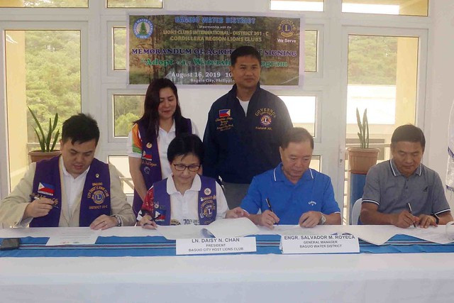 MOA Signing for BWD Adopt-a-Watershed Program