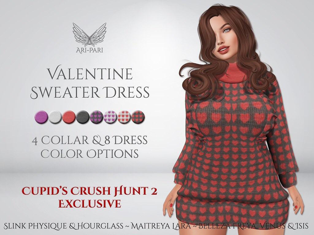 [Ari-Pari] Valentine Sweater Dress