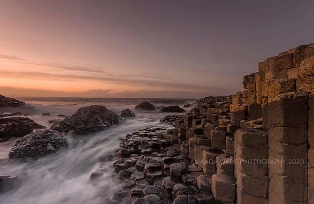 Land Of Myths   Tonight's sunset at the Giants Causeway in Northern Ireland.  #canon #ireland #longexposure #wonderful_places #waves #northernireland #giantscauseway #sunset #sunsetphotography #basaltcolumns #nature #seascape #coastal #canon6d #seascapeph