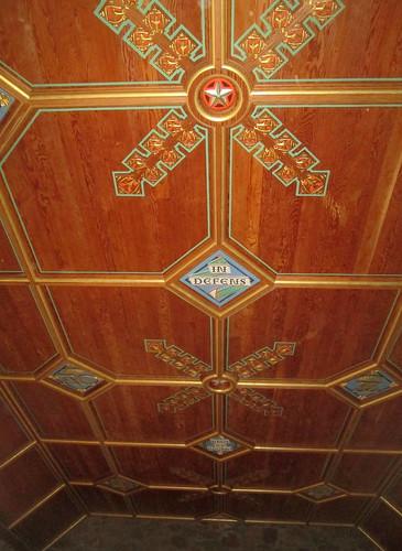 Dunnottar Castle  restored ceiling 1