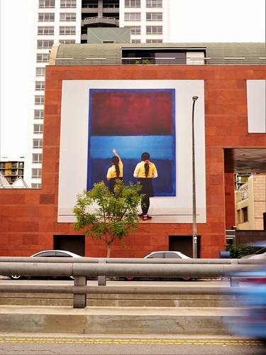 grandavela museumofcontemporaryart moca streetview sola architectirataisozaki urbanla downtownlosangeles dtla streetscenesla polychromatic pentax645z photobyjoeyzanotti