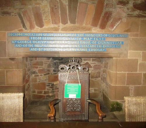 Dunnottar Castle chair + Fireplace