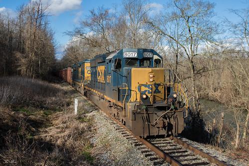 csx train railroad freight huntington division kd subdivision emd sd402 sd403 pine mountain branch w088 oco 1970 herzog