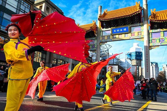 Dancers at CNY Parade YVR