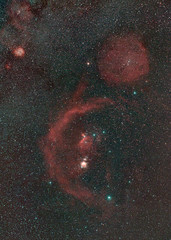 Orion, Rosette and Barnards loop wide field