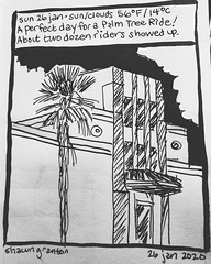 Journal Comic, 26 January 2020. Palm Tree Ride. #palmtreeride #palmtreeride2020