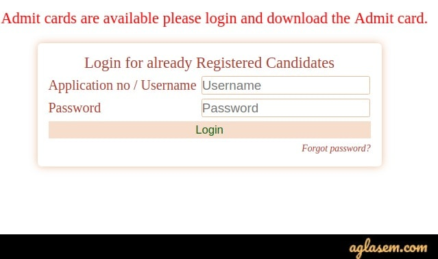 MAH AAC CET 2020 Admit card