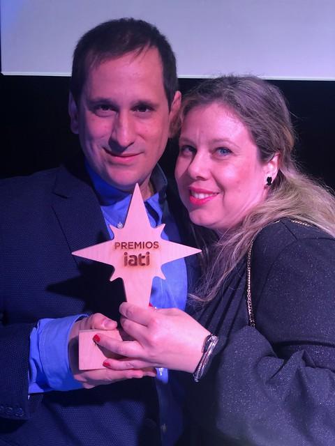 Rebeca y Sele en la gala de los Premios IATI 2020