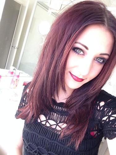 reddy brown hair