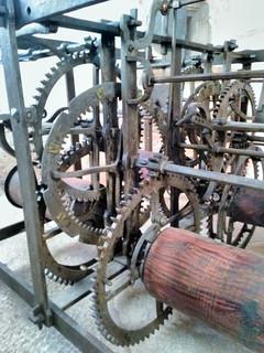 Mécanisme de l'horloge de l'église d'Orgelet