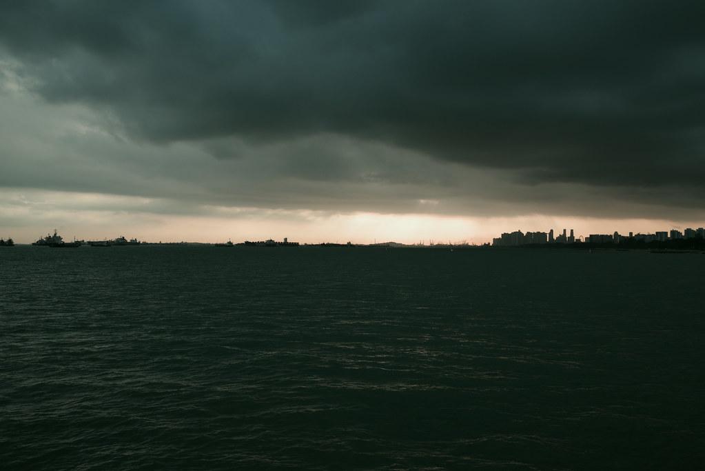 Sunset w/ film style
