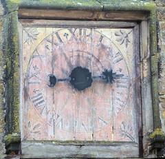 Cadran de l'horloge de l'église d'Orgelet