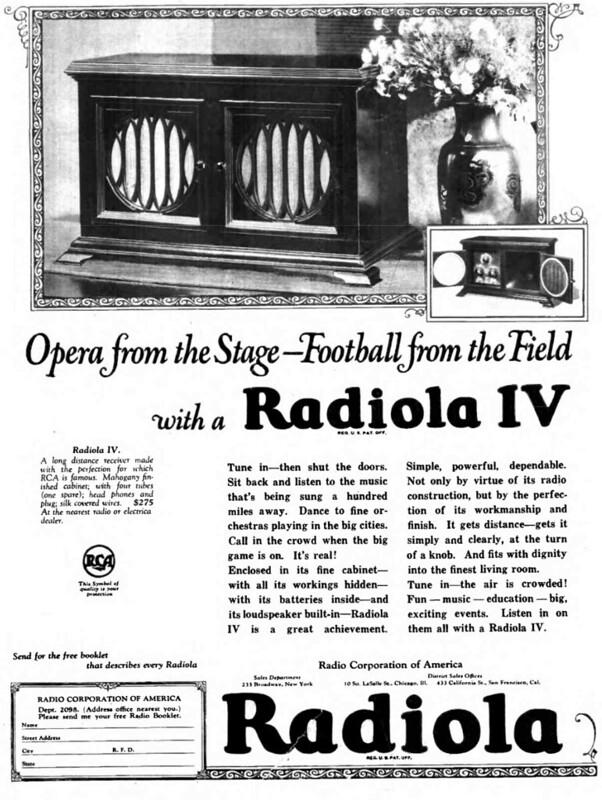 RCA Radiola IV 1923