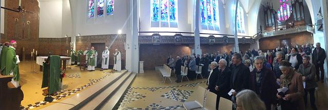 Première visite et vœux de Mgr James à la Maison Saint Louis Beaulieu
