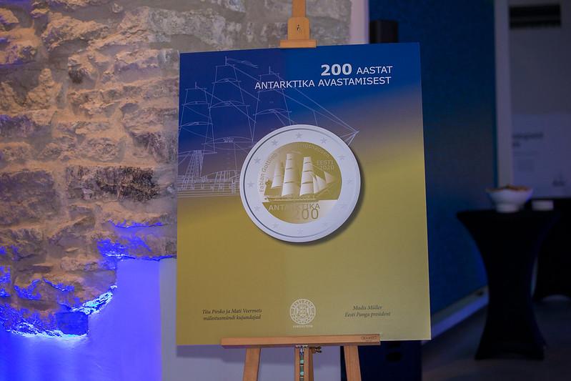 Antarktika avastamise 200. aastapäevale pühendatud mälestusmündi esitlus