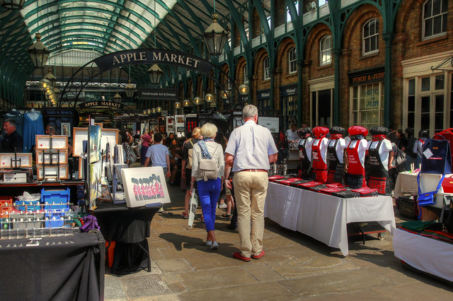 The Apple Market at Covent Garden.