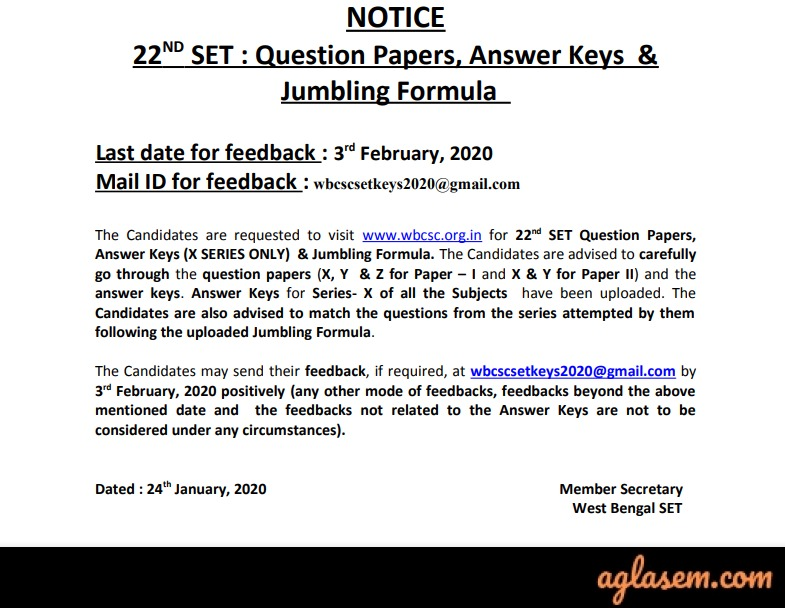 WB SET Answer Key WB SET Answer Key 2020 Released: Check Here for Paper 1, 2