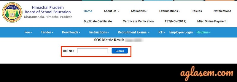 HP SOS 10th Result March 2020