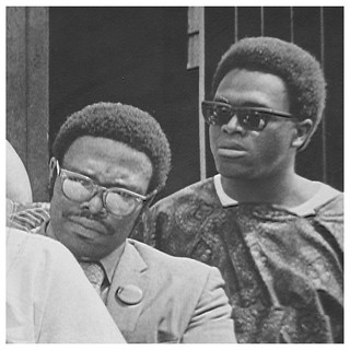 Kwame Afoh and Reginald Booker at bus protest: 1970 | by Washington Area Spark