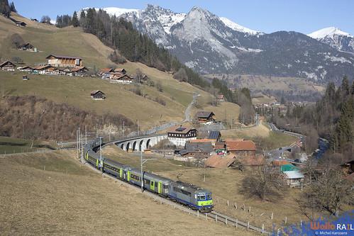 Re 420 504 . BLS  . RE 4069 . Weissenbach , Boltigen . 23.01.20.