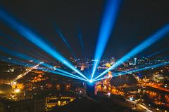Vilnius Light Festival | 697th birthday | Lithuania aerial #26/365