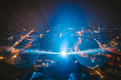 Vilnius Light Festival | 697th birthday | Lithuania aerial