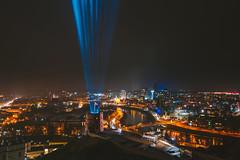 Vilnius Light Festival | 697th birthday | Lithuania aerial